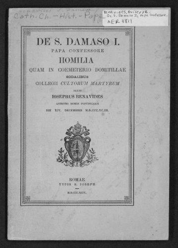 DE S. DAMASO I.