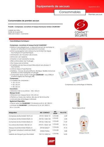 Equipements de secours Consommables - achats-publics.fr