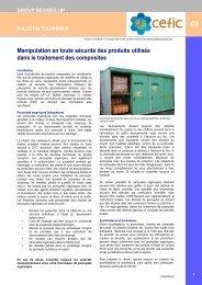 Manipulation en toute sécurité des produits utilisés dans le ...