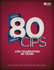 CIPS CelebratIng 80 yearS - The Chartered Institute of Purchasing ...
