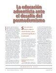 La educación adventista ante el desafío del posmodernismo Teoría ... - Page 4