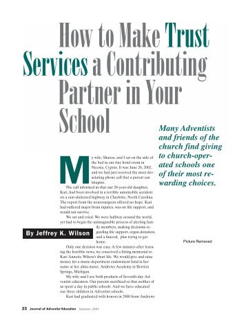 How to Make Trust Services a Contributing Partner in Your School