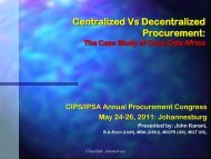 Centralized Vs Decentralized Procurement - The Chartered Institute ...