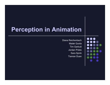 Perception in Animation