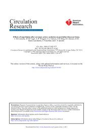 Effects of Reperfusion after Coronary Artery Occlusion on Post ...