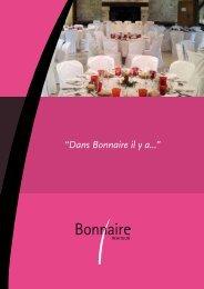 Pour télécharger notre Brochure Mariage ... - Bonnaire Traiteur