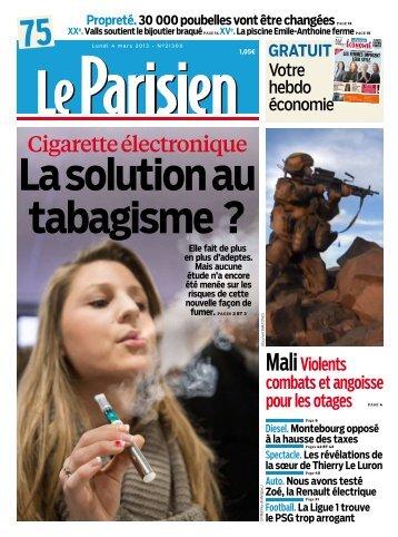 Le Parisien Du Lundi 04 Mars 2013 - Les Parasites