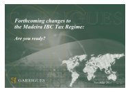 Forthcoming changes to the Madeira IBC Tax Regime: - Garrigues