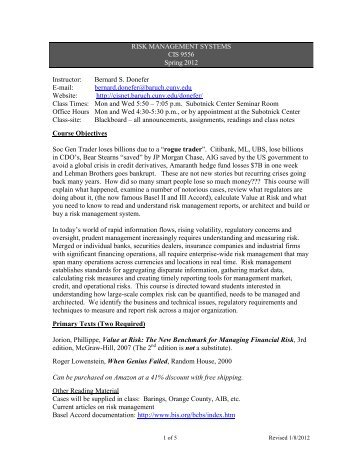 syllabus risk Online management consulting course syllabus content.