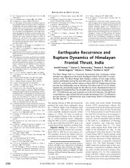 Earthquake Recurrence and Rupture Dynamics of Himalayan ...