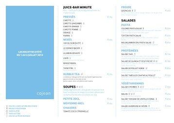 menu Cojean