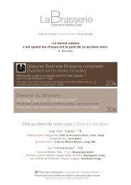 Carte Printemps - La Brasserie - Columbus Hotel