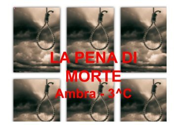 La pena di morte - Il ponte dei Canais