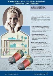 Circulateur eau chaude sanitaire: Grundfos UP COMFORT
