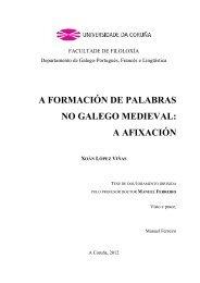 A formación de palabras no galego medieval - RUC - Universidade ...
