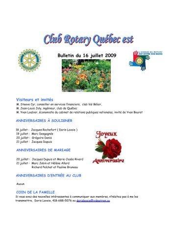26. 16 juillet 2009.pdf - Club Rotary de Québec-Est