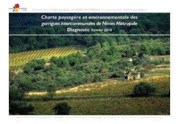 Diagnostic charte garrigues - Nîmes Métropole
