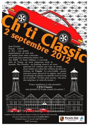 Ch'ti Classic, - Porsche Club Tourcoing