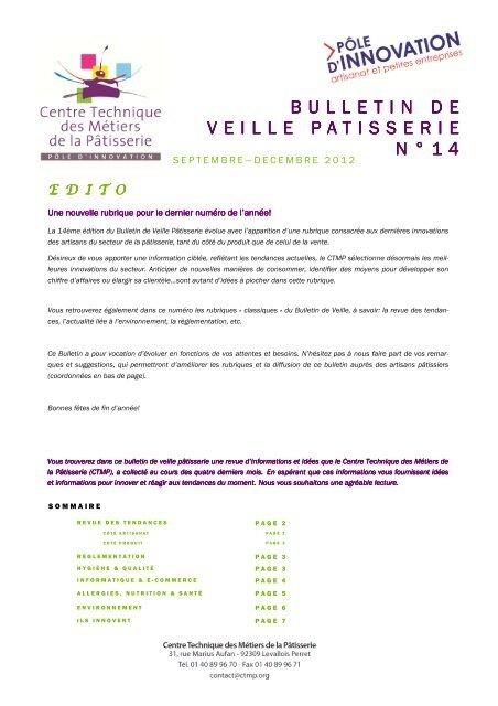 Sept. - Déc. 2012 - Patisserie Artisanale