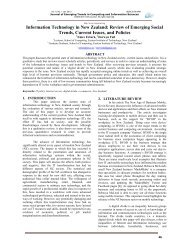 Information Technology in New Zealand - Journal of Emerging ...