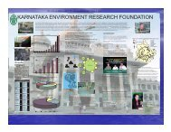 KARNATAKA ENVIRONMENT RESEARCH FOUNDATION - CiSTUP