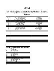 List of IISc Participants - CiSTUP
