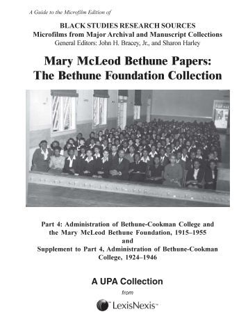 mary mcleod bethune essay Mary mcleod bethune was an innovative leader because she took a story which was largely latent in the population, equal education rights for black children, and brought it to national prominence through the creation of the bethune-cookman college.
