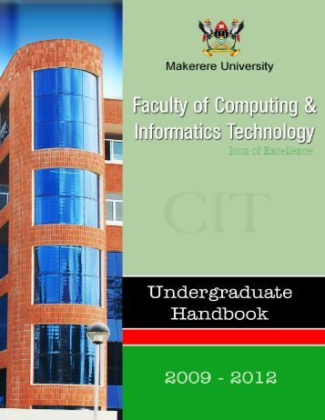 Undergraduate Handbook - School of Computing and Informatics ...