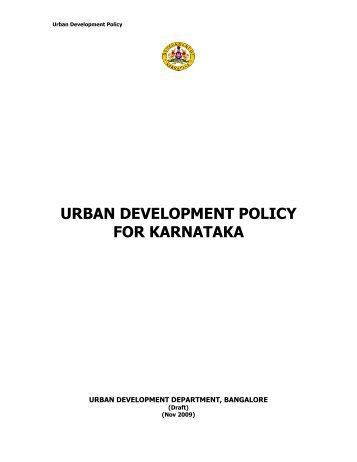 URBAN DEVELOPMENT POLICY FOR KARNATAKA - kuidfc
