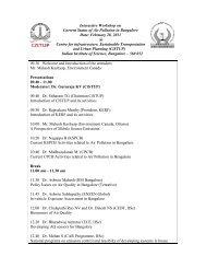 Workshop agenda Current Status of Air Pollution in Bangalor_v1 ...
