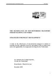 The Significance of Non-motorised Transport for Developing ... - gTKP