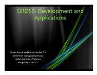 GRDSS Development - CiSTUP