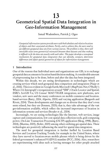 Geo-Information Management in utilities: A posteriori ...