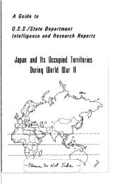 Japan and Its Occupied Territories During World War II - ProQuest