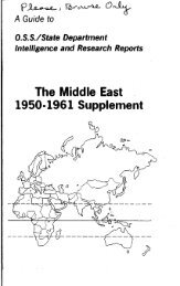 The Middle East 1950-1961 Supplement - ProQuest