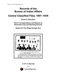 Records of the Bureau of Indian Affairs Central Classified