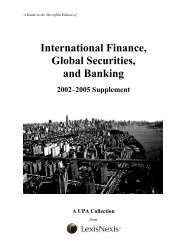 International Finance, Global Securities, and Banking - ProQuest