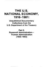 THE U.S. NATIONAL ECONOMY, 1916-1981: - ProQuest