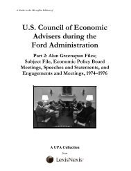 U.S. Council of Economic Advisers during the Ford ... - ProQuest