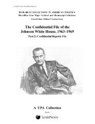 Confidential File of the Johnson White House, Part 2 - ProQuest