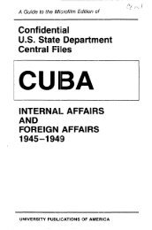 Confidential US State Department Central Files 1945-1949 - ProQuest