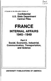 Confidential U.S. State Department Central Files, France - ProQuest