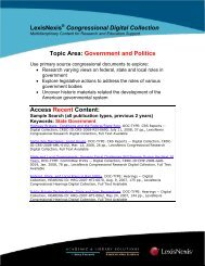Government and Politics Access Recent Content - ProQuest
