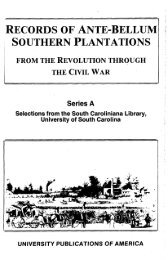 records of ante-bellum southern plantations - LexisNexis Academic