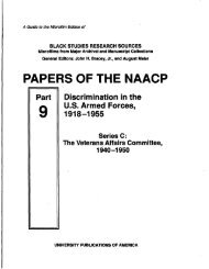PAPERS OF THE NAACP - ProQuest