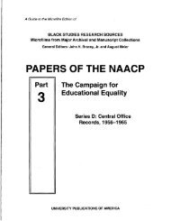Papers of the NAACP, Part 03 - ProQuest