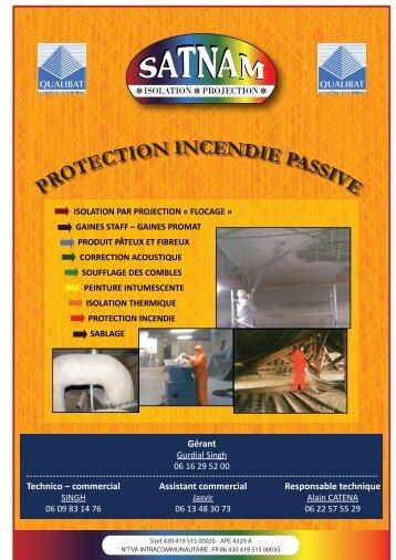 PROTECTION INCENDIE PASSIVE - S.Punjabi