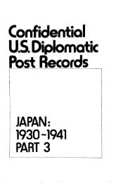 Confidential US. Diplomatic Post Records JAPAN - LexisNexis