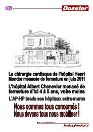 LA TOUR INFERNALE 58 - dossier.pdf - SUD Santé Henri MONDOR