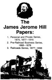 The James Jerome Hill Papers: - ProQuest